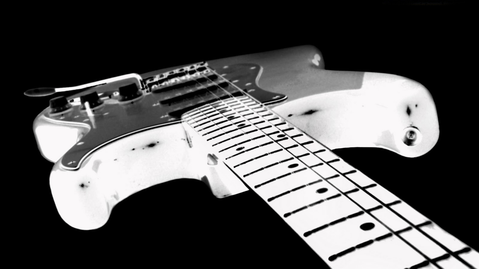 black-white-guitar-wallpaper